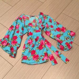 Betsey Johnson Boho Floral Tunic